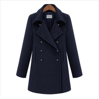 2013 NEW arrival women's jackets winter  faux woolen long section casual lady coats free shipping D017