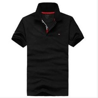 Hot Sale 2013 Trendy Casual Short Sleeve Polo Big Size T-shirt Men Fashion T-shirts Cotton T-shirt Wholesale Free Shipping TM01