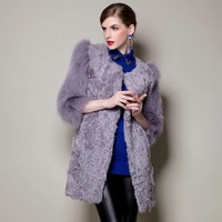Mgicola fur overcoat long design berber fleece fashion women's fur fox fur women's