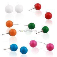 W7Tn Korean Style 5x Cute Colors Studs Ball Sweet Earrings