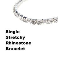 W7Tn Fashion Full Rhinestone diamond Elastic bracelet C