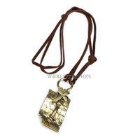 W7Tn# Fashion Retro Women Bronze Letter Cross Key Charm Necklace C