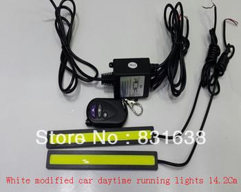Free shipping auto white strobe retrofit daytime running lights 12V power LED daytime running lights 17.3Cm