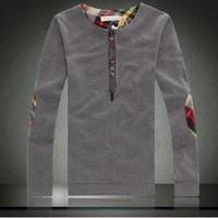 Free shipping Plus size male t-shirt 2013 autumn casual long-sleeve T-shirt male slim basic men's clothing shirt topSIZE:M-5XL