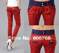 Free shipping 2014 Newest Style Women 's Long Fashion Slim Formal Trousers , Ol Ladies ' Pants