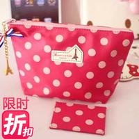 Gift maxence kais paris eiffel tower pink dot cosmetic bag storage bag free shipping dots bags mini cute case