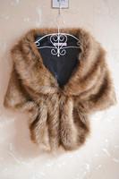 Rex rabbit hair cape mink fur hair cloak waistcoat women's coat