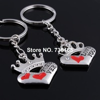 """Free shipping (3 pairs/lot) chaveiro casal cute couple keychain wholesale zinc alloy """"love you forever"""" cheap keyring for lovers"""