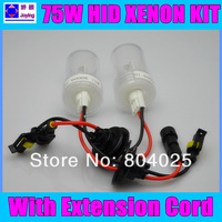 FREE SHIPPING HID Xenon bulbs 75W H1 H3 H7 H8 H9 H11 9006 4300K 5000k 6000K 8000K HID xenon bulb lamps for car headlight