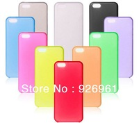 0.3mm Ultra Thin Slim Matte Frosted Transparent Clear Soft PP Cover Case Skin for iPhone 5C Wholesale Free Shipping 10pcs/lot