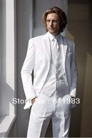 Top well sell free shipping/custom made white cheap new style wedding groom wear tuxedos/bridegroom,groomsmen dress/men's suits