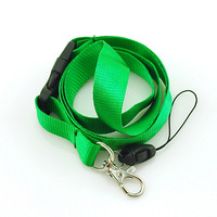 "Free shipping-Plain ""GRASS GREEN"" Lanyard Keychain Necklace Cell Phone Holder ID badge holder neck straps 12pcs/lot Wholesale"