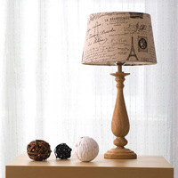 Brief fashion table lamp quality bedside lamp log table lamp new arrival