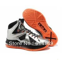 Free shipping 2013 lebron X 10 mvp p s elite mens basketball shoes for sale size US 8~12