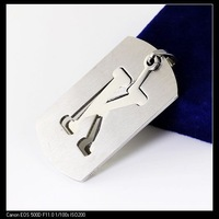 FREE SHIPPING Fashion Pendant Jewelry 1x Men's Shinny Dog Tag Stainless Steel Silver Letter K Pendant Wholesale&Retail