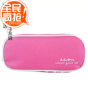 Oxford fabric pink candy cosmetic bag pencil case delicate little bag storage bag pencil case
