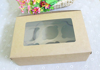 *Free Shipping* Packaging color cowhide 6 window cupcake cups horse box cake box West box