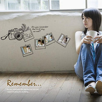 Romantic wall stickers sofa wall tv wall camera