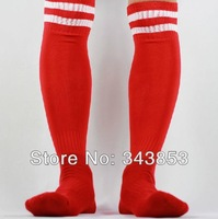 new Pro Player soccer socks Football Soccer Hockey Sports Socks thickening socks free size  red/white strip