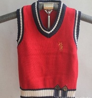 2013 classic polo embroider boy baby sweater vests child knitted vest