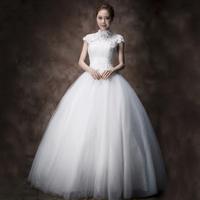 Double bag the bride wedding dress halter-neck lace wedding qi Wedding Dresses vestido de noiva wedding dress 2014 gowns
