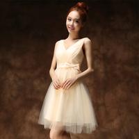 Formal dress   short design double-shoulder 2014 ridesmaid dress evening dress bridal evening dress girl party dress gowns girls