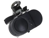 Free Shipping Electronic Night Fishing Burglar Alarm Rod Bite Strike Alert Fish Clip Bell with LED Light Black