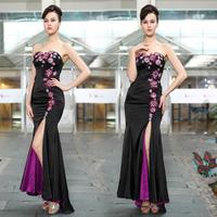 2014 Betty elegant tube top long design low-high evening dress wedding dress long design flower girl dresses bridesmaid dresses