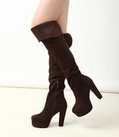 2013 Corean style ultra elastic velvet over-the-knee platform high-heeled boots b910-3 PPXX