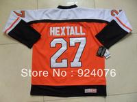 Free Shipping - 2013 Ice Hockey Jerseys Cheap Philadelphia #27 Ron Hextall Orange Throwback - Can Customize (XXS-6XL)