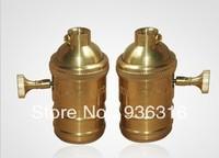 Free shpping Edison copper knob  Lamp holder cap U.S. regulatory UL E27/E26 Bare knob switch lamp chandelier lamp dedicated
