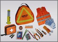 DHL UPS or EMS ship St paul carphones , toiletry kit 110 piece set car emergency tools sd-186  CAR SAFETY KIT