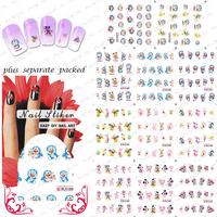 HOTSALE 50sheet/LOT Doraemon Cartoon Nail Art sticker Design for water transfer Nail art Accessories+individually packaging
