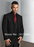 Top selling!Custom Made cheap Man Notch Lapel Tailcoat black wedding Bridegroom dress Groom Tuxedo/Best Groomsmen Men's for Suit