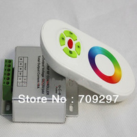 Wholesale 2 pcs/lot 18A  DC 12V/24V RF Wireless Touch RGB controller for 5050/3528 RGB LED Strip 99807 + free shipping
