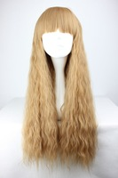 70cm Long Light Brown Beautiful lolita wig Anime Wig