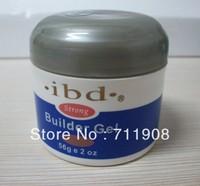 ree shipping 3pcs/lot Acrylic Nail Art UV Gel nail saloon nail art IBD Builder Gel 2oz / 56g 3 color (clear+pink+white))