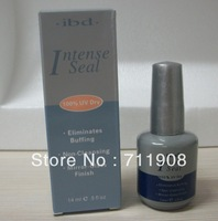 IBD 1pc INTENSE SEAL 100%uv dry 14ml ELIMINATES BUFFING/NON-CLEANSING/MIRROR-CLASS FINISH nails & tools