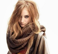 Autumn and winter large scarf female fashion gold thermal fashion mohair yarn scarf muffler all-match