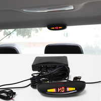 4 sensors Car reverse led parking system backup radar putting on roof of your car