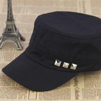 Rivet male female summer outdoor breathable cadet cap sunscreen mesh cap military hat sunbonnet