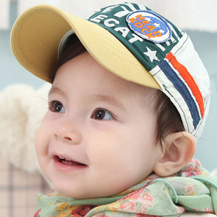 New 2013 2013 11 applique baby baseball cap spring and summer child cap baby child sunbonnet  Free Shipping