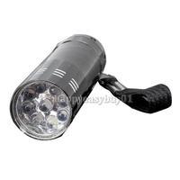 9 LED Mini Flash Ultra Bright light Torch Black H1E1
