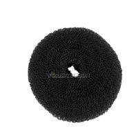 W7 Hot Selling Lady Hair Styling Tool 1x Soft Magic Black Bun Sponge Donut Shape Hair Styler