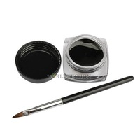 W7Tn New 1x Cosmetic Eye Liner Makeup Waterproof Eyeliner Gel Cream With Brush