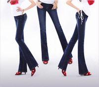 2014 new fashion jeans female bell bottom butt-lifting slim pants autumn pencil jeans women free shipping