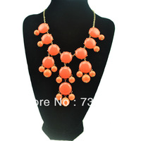 Wholesale 55CM European and American popular Bubble J-CREW short necklace, Adjustable drop red star necklace.X108
