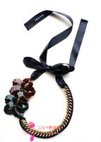 Marni elegant fashion unique chain paragraph lacing necklace