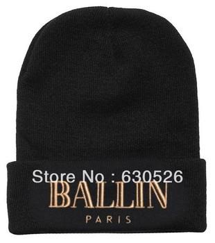 12pcs/lot BALLIN Black Grey  Beanie  warm BAALLIN  Classic Beanie   more 1000styles bulk order more discount
