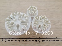 Free shipping 3pcs/set Snowflake Plunger Mold cake decorating tools Cake tools/cookie cutters